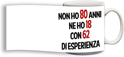 Csm Informatica Tazza Compleanno Spiritosa 80 Anni Personalizzata Con Nome Frase Foto Ecc Idea Regalo Amazon It Casa E Cucina