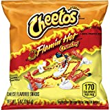 Cheetos Crunchy Flamin' Hot Cheese Flavored Snacks, 1 Ounce (Pack of 40)