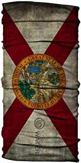 Born of Water Neck Gaiter: Florida Flag: Fishing Face Mask Shield UV Protection