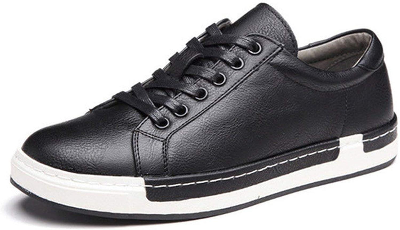 WBeauty Casual shoes Handmade Vintage shoes Leather Men's Leisure shoes,Black shoes,11,Spain