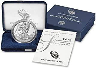 2019 W American Silver Eagle 1 Ounce Coin in OGP with CoA Dollar Proof US Mint