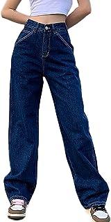 Hip Hop Baggy Pants Women's Workout Jogger Jeans Comfortable Loose Fit Hip Hop Denim Long Casual Cargo Trousers