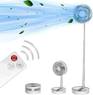 扇風機 リモコン付き タイマー 折りたたみ 4段階風量調節 180度回転 洗えるリビング扇風機 静音 充電式 伸縮 最長1m 卓上 デスクファン コンパクト コードレス