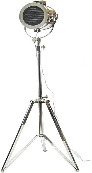 复古航海落地灯 Aldis 灯电动演播室探照灯装饰聚光灯带全可调三脚架铬 75