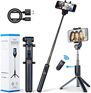 Apexel Selfie Stick Bluetooth Monopod with Foldable Tripod Stand and Remote Control Extendable Aluminum Alloy 360 Rotation...