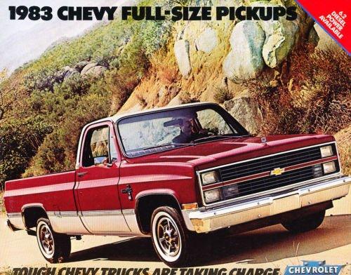 1980 ORIGINAL CHEVY PICKUP TRUCK DEALERSHIP SALES BROCHURE - INCLUDES; Fleetside, Stepside, Chassis Cab, Crew Cab, Big-10, C 10, C 20, C 30, 2WD & 4WD - Gas_Diesel