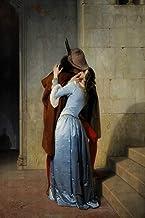 xiaoshicun The Kiss de Francesco Hayez Pintura al óleo sobre Lienzo Retrato Carteles e Impresiones Scandinavian Pop Art Wall Picture for Living Room-60x90cmnoframe