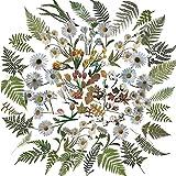 24 Blätter Scrapbooking Stickers Blumen Pflanzen Blätter Aufkleber Vintage Naturthemen Selbstklebende Stickers TransparenteStickerbögenfür Sammelalbum, Fotoalbum, Kunst, Kinder Basteln