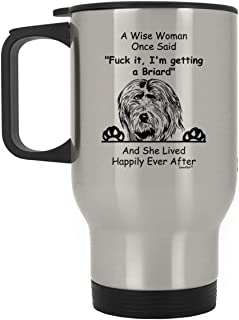 Sponsored Ad - Funny Briard Travel Mug Dog Gifts for Women Owner Silver 14oz