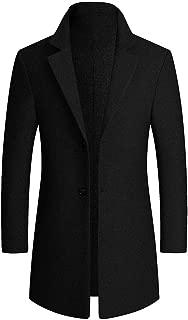 Garish Winter Men Classic Pure Color Lapel Slim Trench Coat Gentleman Warm Business Overcoat Casual Jacket Outwear