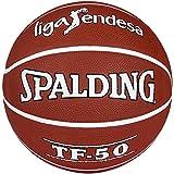 Spalding ACB Tf50 Outdoor Sz.7 73-896Z Balón de Baloncesto, Unisex Adulto, ladrillo, 7