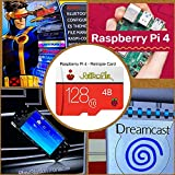 TAPDRA Tarjeta SD RetroPie de 128 GB para Raspberry Pi 4 10000+ Juegos 45+ Emuladores Precargados DIY Emulationstation
