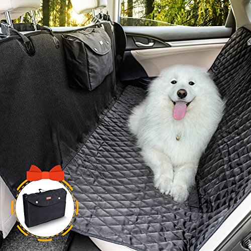 Dog Seat Cover, Doglemi Pet Seat Cover Waterproof Hammock Non-Slip with Quilted Padded Durable and...