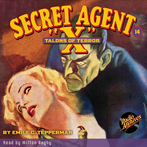 Secret Agent X #14: Talons of Terror audiobook cover art