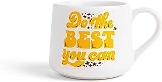 The Created Co. Coffee Mug - 12 oz. Crescent Novelty Mug, Coffee Lover Gift, Holiday Gifts - Tea, Hot Cocoa, Cafes - White...