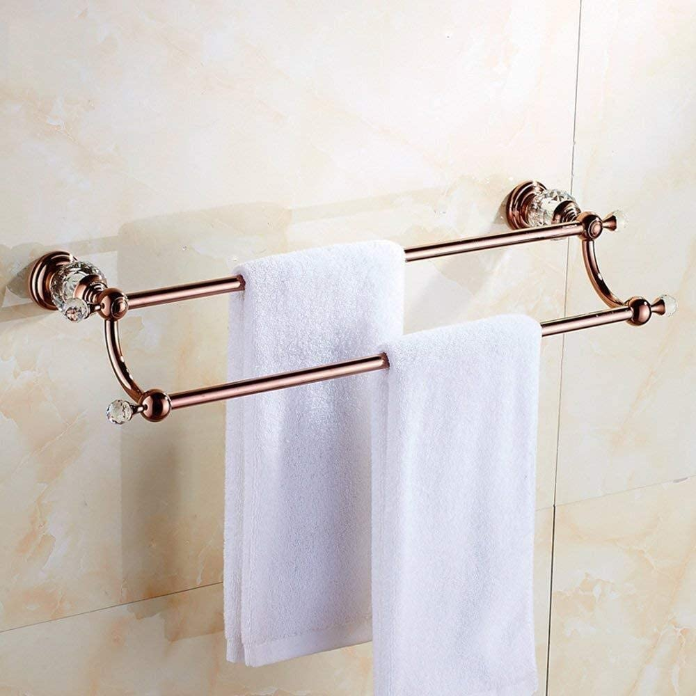 Max 56% OFF XingKunBMshop 2021new shipping free Retro Copper Double Rack Bathroom Towel