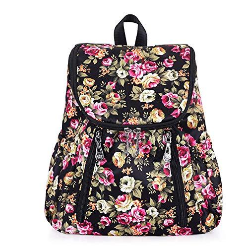 Mochila Mujer Casual Mochila Señoras Impermeable Moda Flor Adolescentes Escuela Mochila Gran Capacidad Bolsa de Viaje