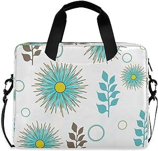 "Stylish Flower Turquoise Dandelion Laptop Carrying Case Shoulder Bag Briefcase W/Strap Women Men 15.6"" 16"""
