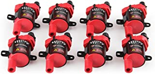 8 PCS CarBole D585 ROUND Ignition Coils Pack for Chevy GMC Buick Hummer Isuzu Cadillac 4.8L 5.3L 6.0L 8.1L V8 Compatible with UF262 C1251 C1512