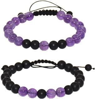 Friendship Relationship Couples Distance Adjustable Round Beads Bracelet Gems& Jewelry Box