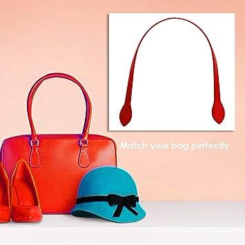 Prosperveil 2 Pieces Bamboo Bag Handles for Bag Making DIY Craft Bamboo Purse Bag Handbag Handles Replacement 20cm