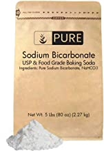 Sodium Bicarbonate (Baking Soda) (5 lb.) by Pure Organic Ingredients, Eco-Friendly Packaging, Highest Purity, Food & USP Grade