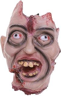 Amosfun Cabeza de Fantasma de Halloween sangrienta Cortada Cabeza de cadáver Fantasma Casas embrujadas decoración
