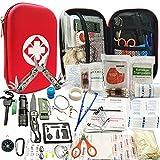 Kit de Survie d'urgence 241en 1 Multi-Outils De Survie Vitesse Kit, 241Pcs Tactique IFAK Pouch Outdoor Gear...