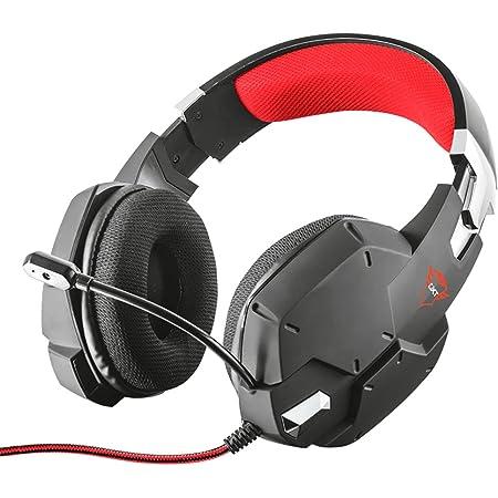 Trust Cuffie Gaming GXT 322 Carus con Microfono Flessibile, 3.5 mm Jack, Filo, Over Ear, Controllo del Volume ed Esclusione Audio del Microfono, PC, PS4, PS5, Xbox Series X, Xbox One, Switch, Nero