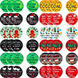 48 Pieces Christmas Sayings Button Pins Funny Sayings Brooch Lapel Pin for Christmas Party Clothes Bags Hats Accessories, 12 Styles