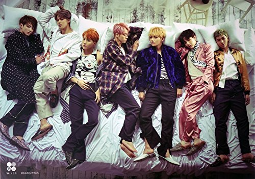 BTS Bangtan Boys - Wings (Vol.2) [Official Poster] 23.2 x 16.5 inches