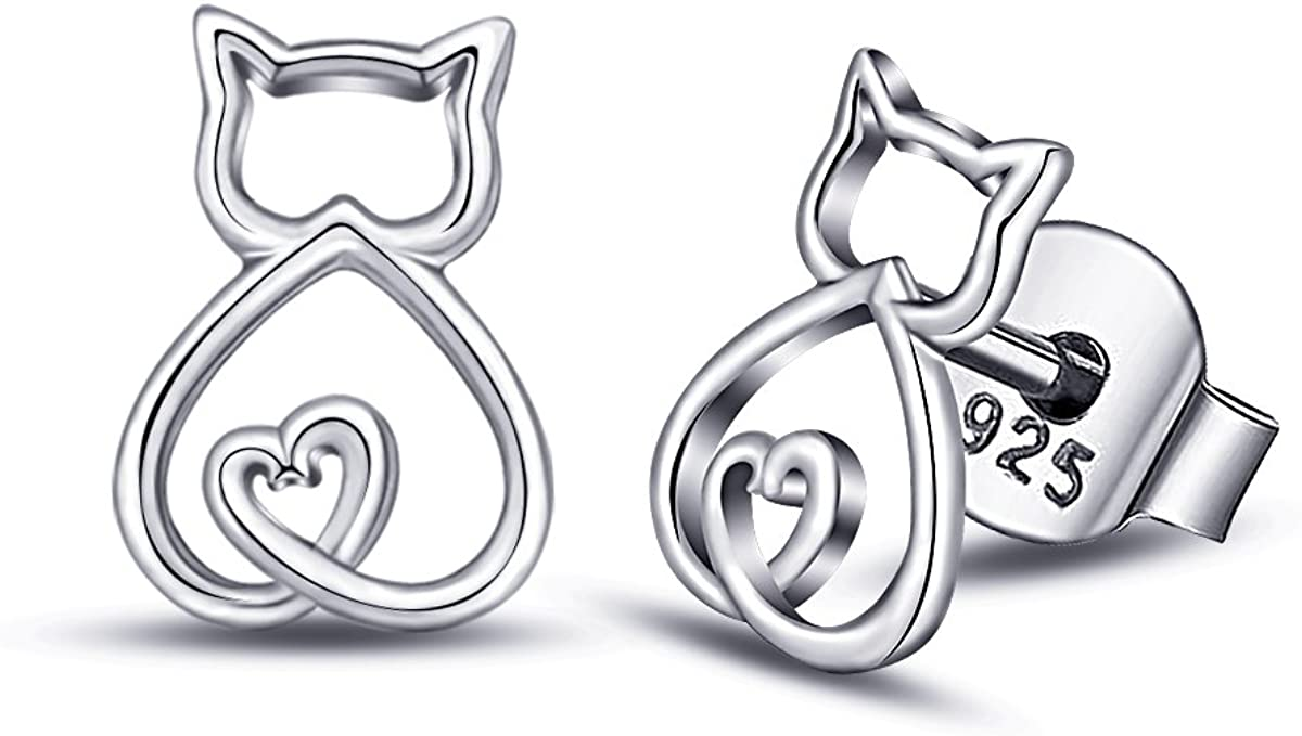 Max 77% OFF EUDORA Polished 925 Sterling We OFFer at cheap prices Silver Cat Pet Kitty Lover Kitten S