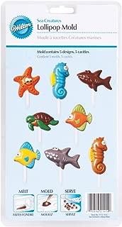 Wilton 2115-1414 Sea Creatures Candy Mold, 5 Designs