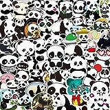 MBGM 50 unids dibujos animados lindo panda pegatinas taza agua portátil teléfono móvil casco coche eléctrico impermeable decorativo pegatinas