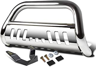 For Dodge Ram 1500 3 inches Chrome Bumper Push Bull Bar + Skid Plate + Relocation Kit