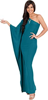 9c8748beb335 KOH KOH Womens Long Sexy One Shoulder Evening Cocktail Semi Formal Maxi  Dress