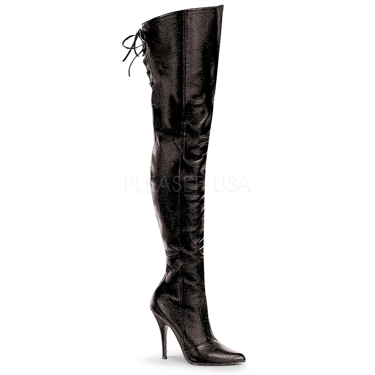 転倒哀れな増強Pleaser LEGEND-8899 Blk Leather (P) UK 5 (EU 38)[並行輸入品]