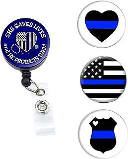 Sizzle City Brand - Badge Holder, Badge Reel, Badge Clip, Interchangeable Retractable Badge Reel, Magnet Nurse ID Badge Ho...
