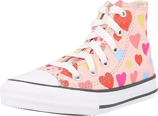 Converse All Star Sunflower Hi Junior Pink Trainers