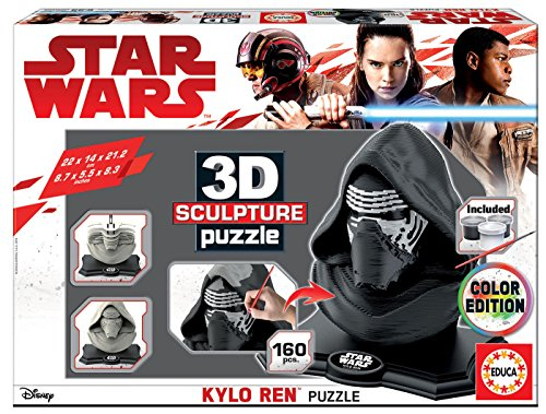 Educa Borras - 3D Sculpture Kylo Ren-Colour Edition Star Wars Puzzle (17802)
