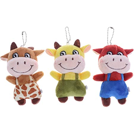 Details about  /10cm 2021 New Year Chinese Zodiac Ox Cattle Plush Toys Cow Mascot Plush UUMW