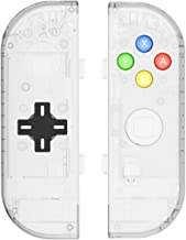 BASSTOP Translucent NS Joycon Handheld Controller Housing with D-Pad Button DIY Replacement Shell Case for Nintendo Switch Joy-Con (L/R) Without Electronics (Joycon D-Pad-Matte Clear)