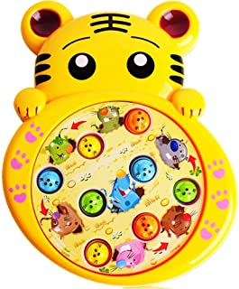 Fun Gift for Boys & Girls of Age 3 4 5 6 7 8-Tiger hit Gopher Electric Game Console, tap with Music Baby Puzzle Toys by dissylove