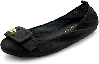 Allegra K Women's Buckle Casual Comfortable Ballet Flat