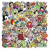 HENJIA 50PCS Cartone Animato Graffiti Impermeabile Skateboard Valigia da Viaggio Telefono Cellulare...