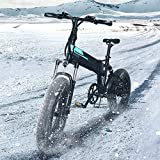 Bicicleta Eléctrica Plegable Motor Electrico para Bicicleta 500W Motor 7 Velocidades Desviador Display 3 Modos Pantalla LCD Bicicleta Electrica Plegable Ligera 48V 12,8 Ah 40 km/h