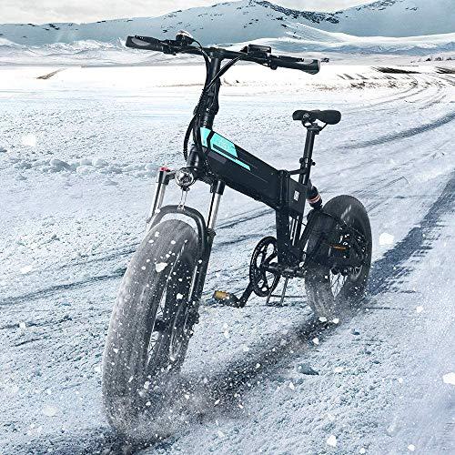 Bicicleta eléctrica plegable Fiido M1 Pro para adultos, 500 W, palanca de...