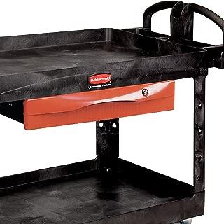 RUBBERMAID FG459300RED Lockable Drawer for Premium Universal Shelf Carts, Chrome