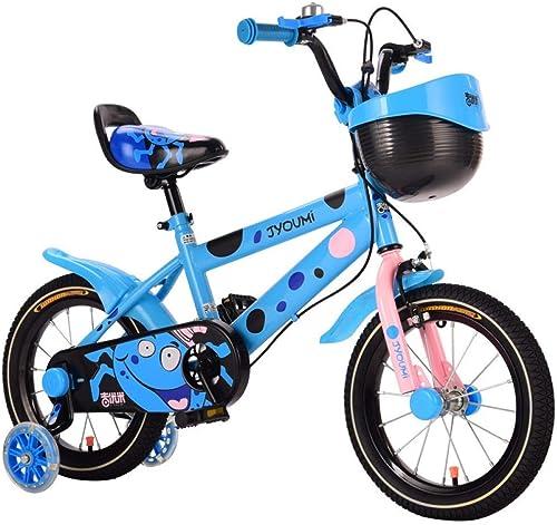 las mejores marcas venden barato XHLJ Bicicleta para Niños, Bicicleta Unisex, Juguete para Niños, Función Función Función De Almacenamiento, Estabilizador, Ajustable (Color   B, Tamaño   14 Inch)  descuentos y mas