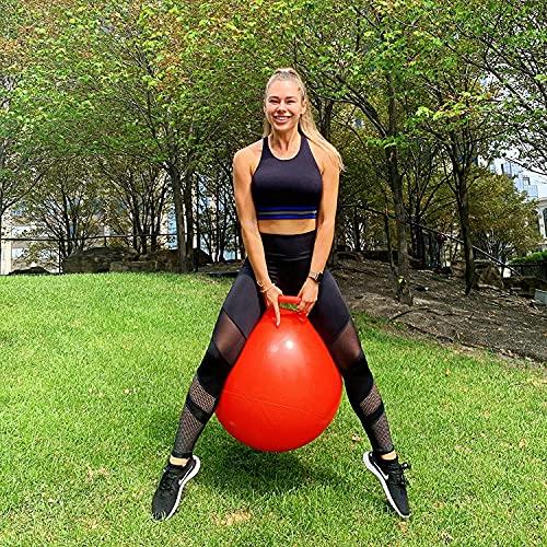 Ritmo Rubber Space Hopper Ball with Air Pump, Hop Ball, Kangaroo Bouncer, Hoppity Hoppity Hop, Jumping Ball, Sit and Bounce (Multicolour, Medium)
